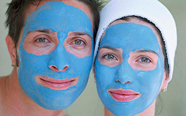 маски из голубой глины
