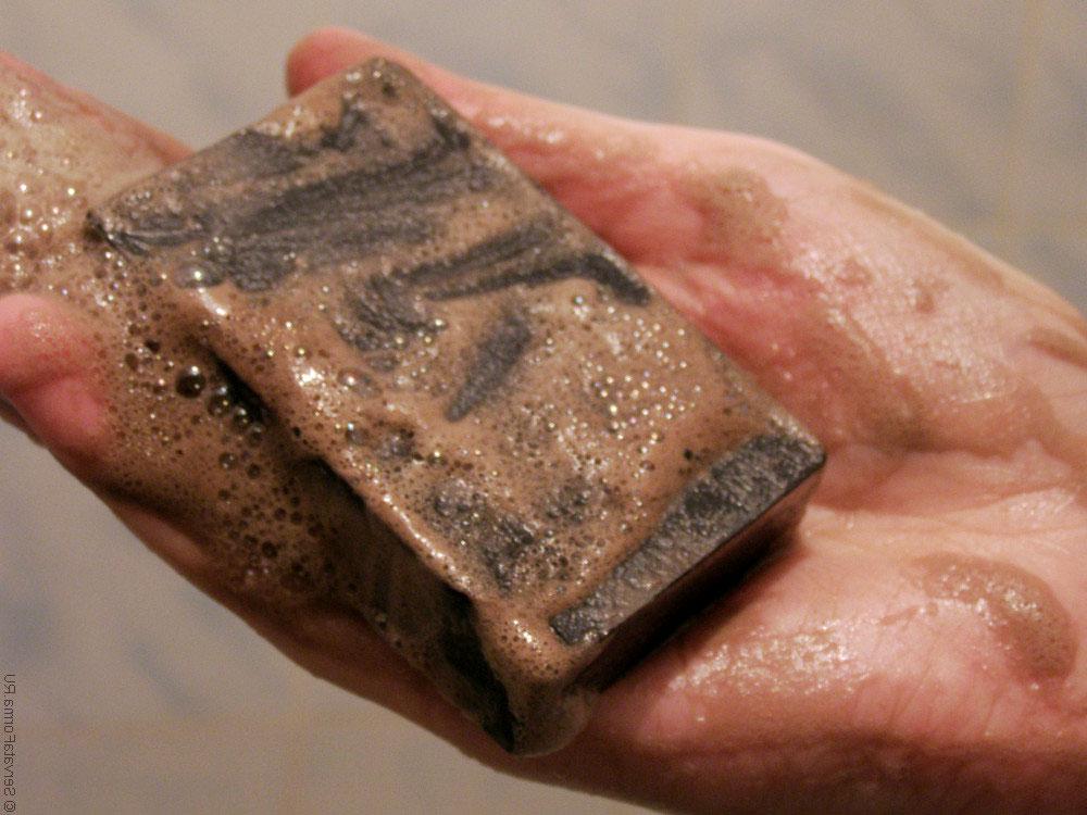 Дегтярное мыло от прыщей чёрных точек для лица