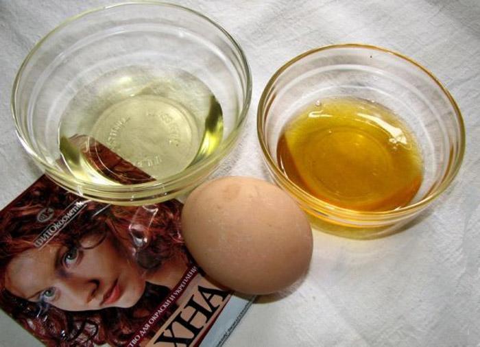 Маска для волос из хны и яйца