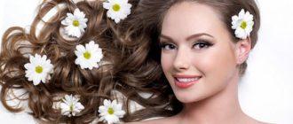 волосы с цветами