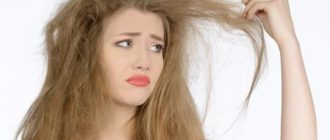 Очень сухие волосы